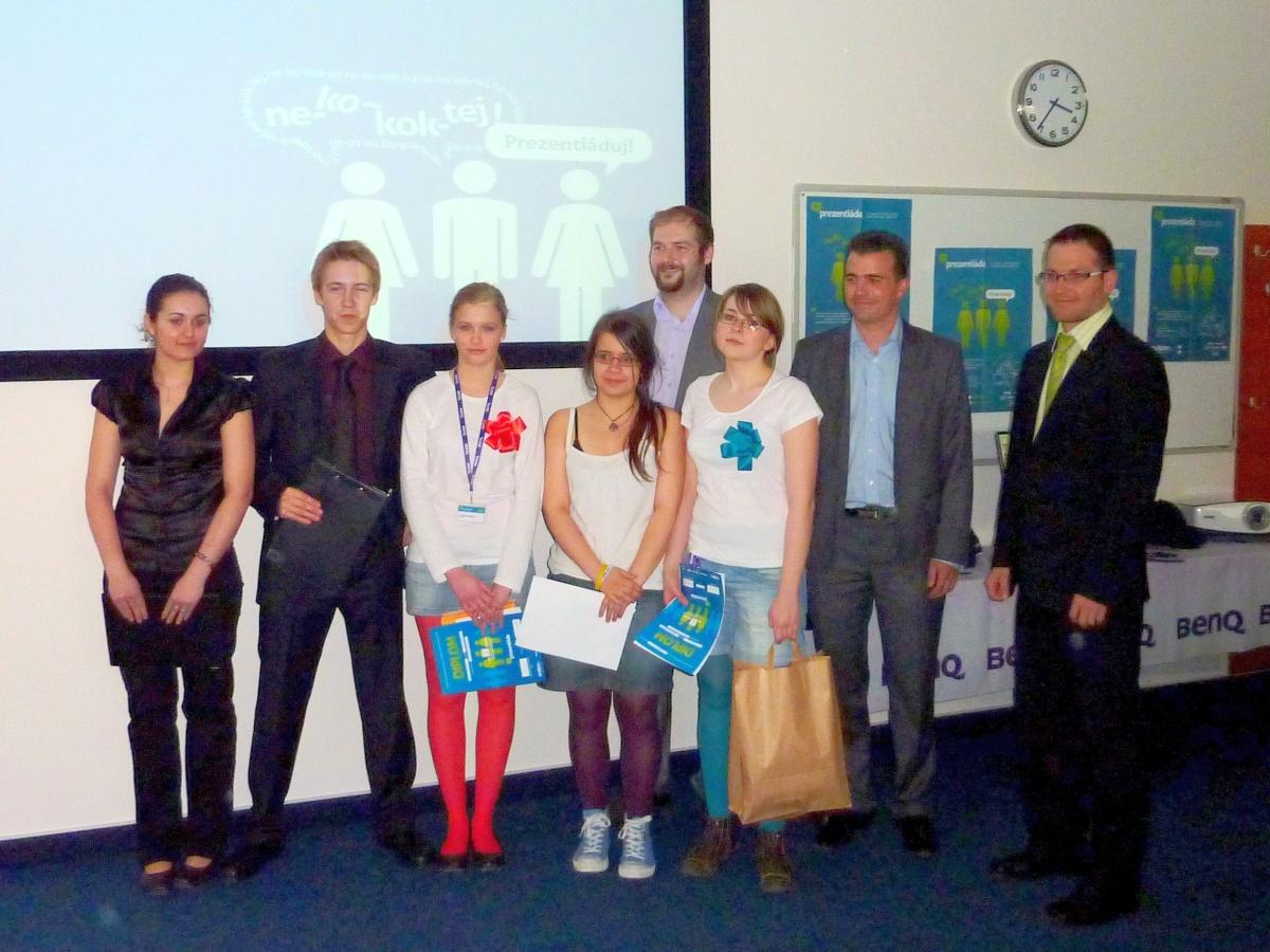 celostátní finále Prezentiada 2011: bronzový tým Dasakers z našeho gymnázia