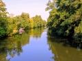 řeka Chrudimka v okamžiku otevření Natura parku Pardubice