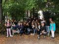 Žáci naší školy se účastní výměnného pobytu v Německu. Skupinová fotografie