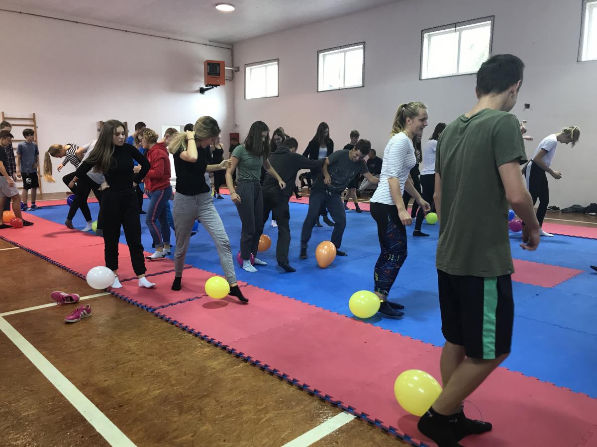 Adaptační pobyt Zbraslavice:  gymnastický sál
