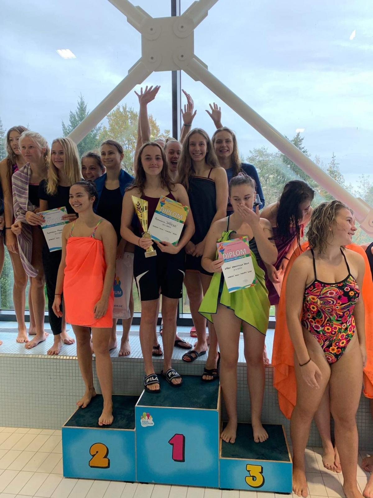 okresní kolo soutěže středních škol v plavání: tým dívek