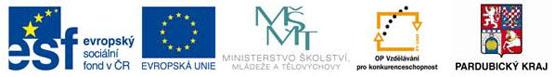 Evropský sociální fond v ČR, EU, MŠMT, OP Vzdělávání pro konkurenceschopnost, Pardubický kraj
