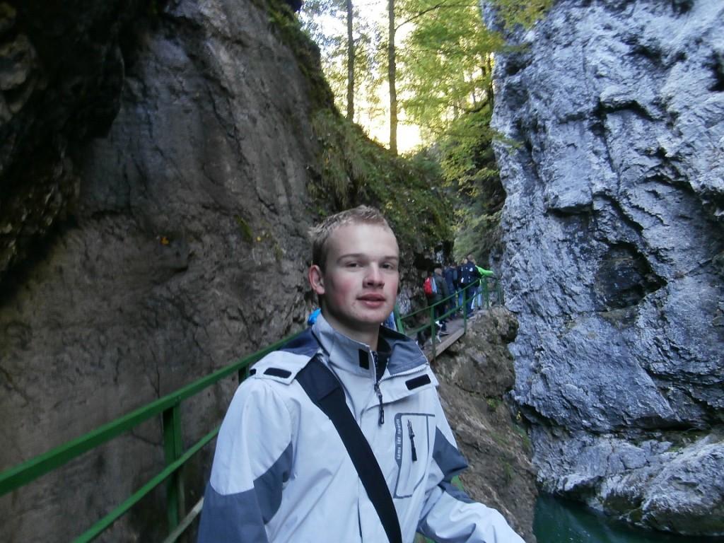 skalní soutěska Breitachklamm