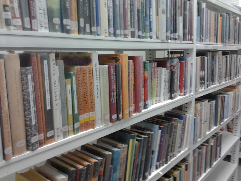 školní knihovna: uvnitř jsou knihy