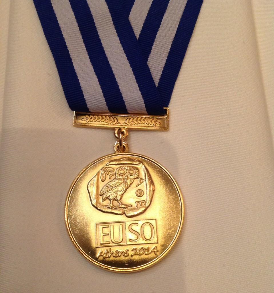 EUSO 2014: zlatá medaile Jiří Etrych team
