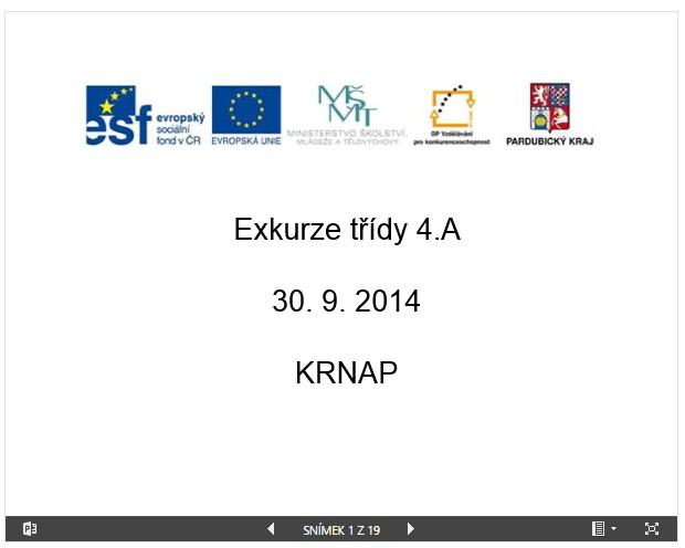 Prezentace KRNAP 4.A říjen 2014