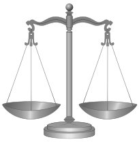 public domain https://en.wikipedia.org/wiki/File:Scale_of_justice_2.svg